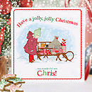 Boy's Personalised Christmas Card