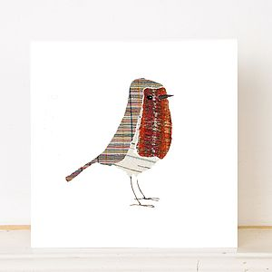 Christmas Robin Greetings Card - cards & wrap