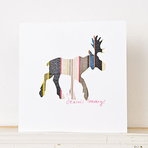 Christmas Moose Greetings Card - cards & wrap