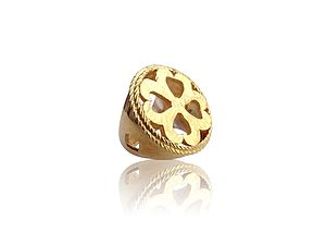 Gold Vermeil Cut Out Ring - rings