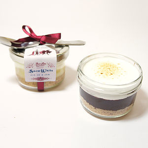 Pair Of Fairy Tale Snow White Pies In Jars - cakes & cupcakes