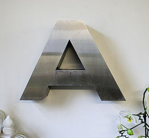 Vintage Metal Letter A - outdoor decorations