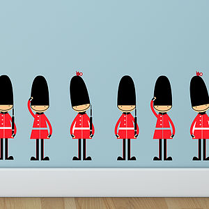 Queens Guards Toy Soldier Wall Stickers - children's room accessories