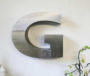 Vintage Metal Letter G - outdoor decorations
