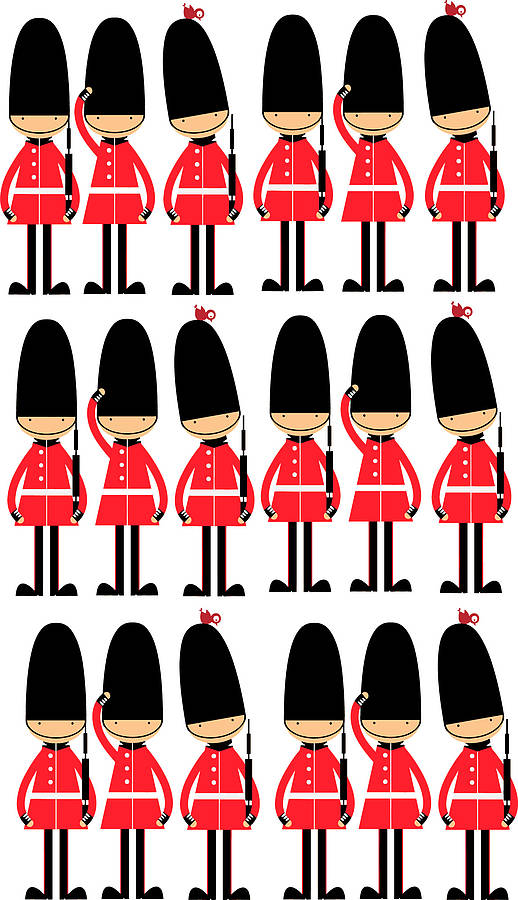 Queens Guards Toy Soldier Wall Stickers By Parkins