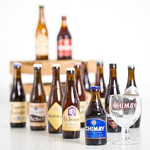 12 Trappist Beers And Chalice Glass - food & drink gifts