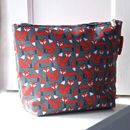 Fox Print Wash Bag