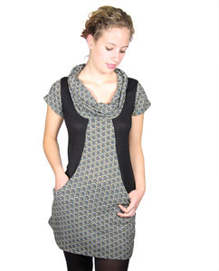 Roll Neck Tunic Dress - dresses