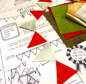 Mini Leather Bunting D.I.Y Kit - craft-lover
