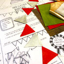 Leather Bunting Craft Kits