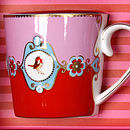 Gift Set Of Three Love Birds Large Mugs