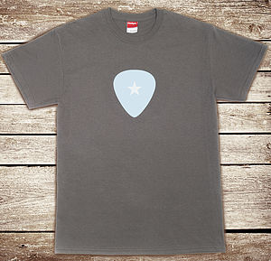 Guitar Pick T Shirt - men's fashion