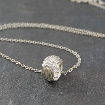 Sterling Silver Wrapped Wire Necklace