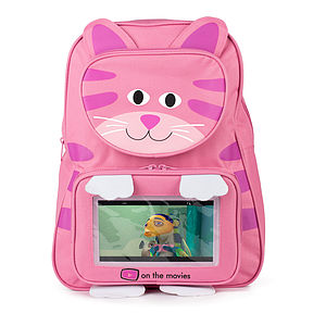 Child's Cat Tablet Pocket Backpack