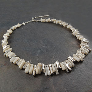 Coral And Sterling Silver Necklace - women's jewellery