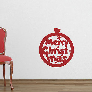 Cutout Christmas Bauble Wall Stickers