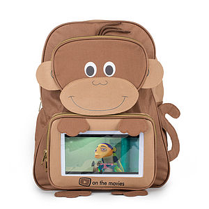 Child's Monkey Tablet Pocket Backpack