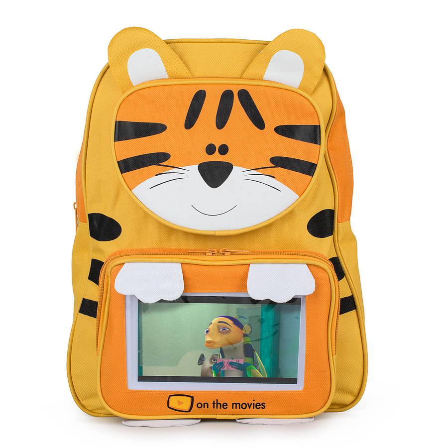 Child S Tiger Tablet Pocket Backpack By Bright Eyes 3a24a7549e14f