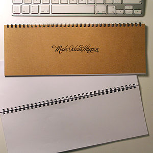Personalised Message Desk Planner Notebook