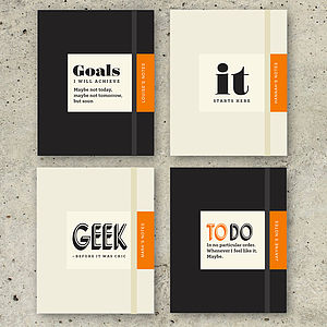 Personalised Gift Notebook - office & study