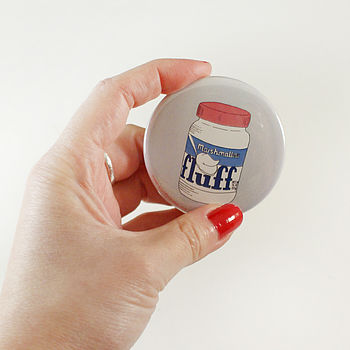 Marshmallow Fluff Pocket Mirror