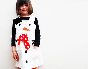 Snowman Christmas Costume Dress - children's christmas clothing