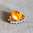 Camp Fire Brooch