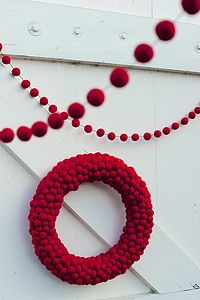Christmas Felt Ball Garland - tree decorations