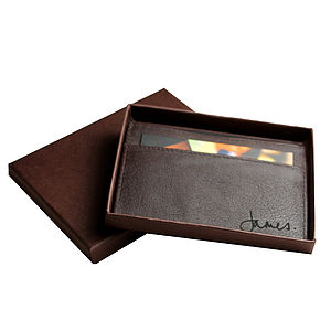 Sean: Men's Buffalo Leather Card Holder - personalised