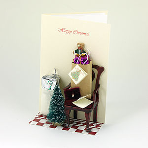 'We Come Bearing Gifts' 3 D Christmas Card - cards & wrap