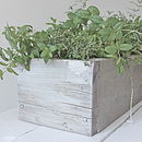 Carol Industrial Reclaimed Wood Planter