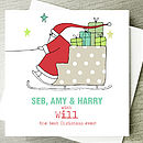 santa card with relations name (eg Will)