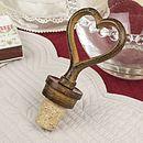 Cast Iron Heart Bottle Stopper
