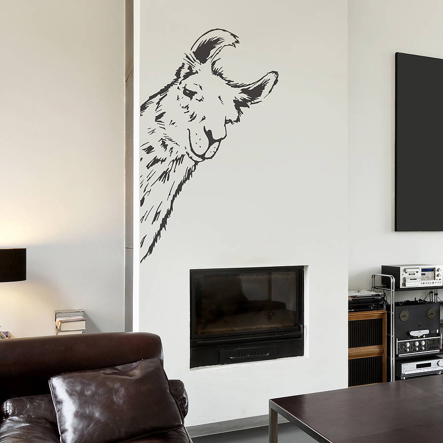 llama vinyl wall sticker by oakdene designs. Black Bedroom Furniture Sets. Home Design Ideas