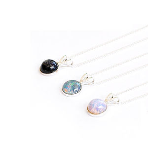 Nebula Tiny Semi Precious Stone Necklace - women's jewellery