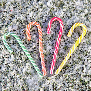 Large All Natural Fruit Candy Cane Sweet - last-minute christmas decorations