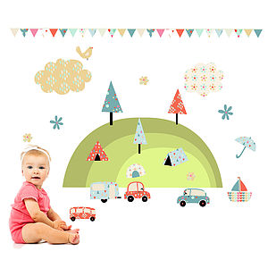 Camping Holiday Wall Stickers - wall stickers