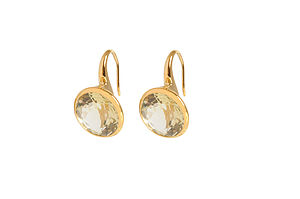 Mahina Citrine Classic Round Earrings - earrings