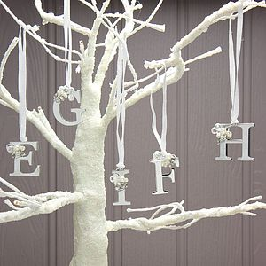 Silver Letter Hanging Decorations - tree decorations
