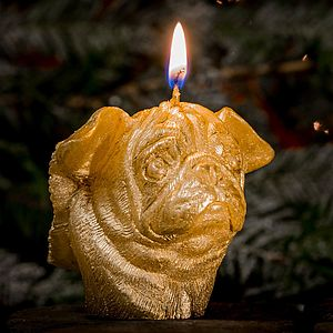 Winged Pug Candle - lights & candles