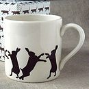 Brown Boxing Hare Mug