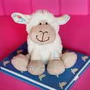 Blue Stitch Mini Lamb Soft Toy