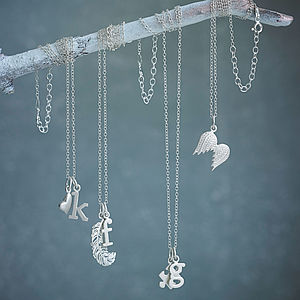 Silver Charm Necklace - jewellery for women