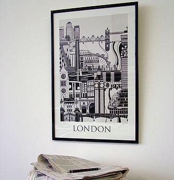 London poster framed