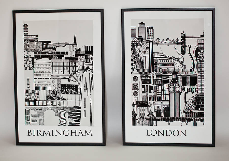 London and birmingham posters