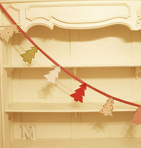 Christmas Tree Bunting - children's room accessories