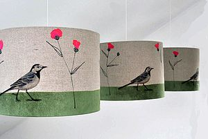 Pied Wagtail And Knapweed Ceiling Pendant - lampshades