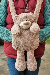 Hand Warmer Teddy Bear Muff - soft toys & dolls