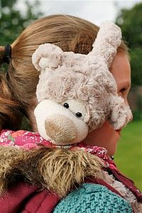 Childrens Happy Bear Ear Muffs - hair care accessories