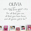 Childrens Personalised Wall Sticker